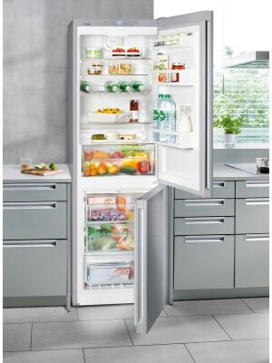 Combina frigorifica Liebherr Confort CNel 4313, NoFrost, 304 l, Clasa E, Inox