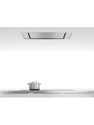 Hota la nivelul plafonului Pando E-295 V.1350, latime 90 cm, clasa A, Inox