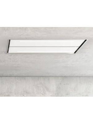Hota la nivelul plafonului Pando E-232, latime 130 cm, V.1250, clasa A+, sticla sau alb