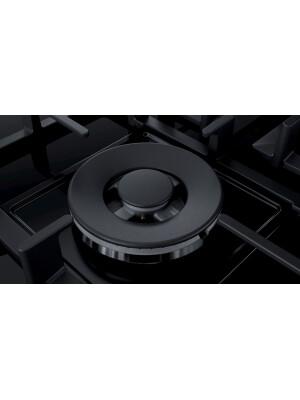 Plita incorporabila gaz Bosch PPS9A6B90, Arzător Wok, negru