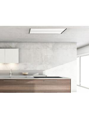 Hota la nivelul plafonului Pando E-231, latime 130 cm, V.1130, clasa A, sticla sau alb