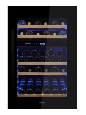 Vitrina de vin incorporabila Pando PVMAV 88-49, 49 sticle, 146 l, B