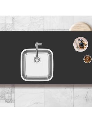 Chiuveta bucatarie inox CookingAid INDUS 40 cu montaj sub blat + accesorii montaj